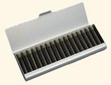 17 - Aluminium box with empty vials