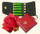 5er-Rosen-Set im rotem Schlüsselanhänger - Maute, Homeoplant