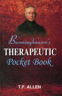 Boenninghausen's Therapeutic Pocket Book, Timothy Field Allen
