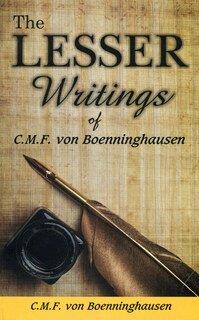 The Lesser Writings/Clemens von Bönninghausen