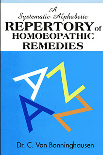 A Systematic Alphabetic Repertory of Homoeopathic Remedies, Clemens von Bönninghausen