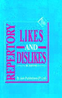 Repertory of Likes and Dislikes/B. Sethi