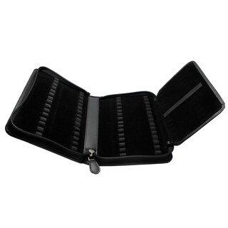 60er Taschenapotheke leer - OMEO - Rindnappa-Leder schwarz