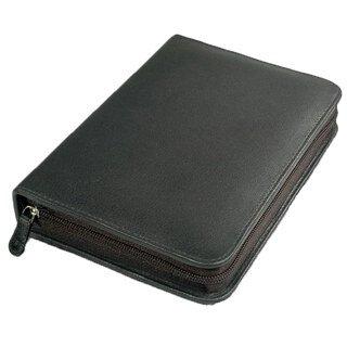 60er Taschenapotheke mit leeren braunen 1,5 g Gläschen - OMEO - Rindnappa-Leder schwarz/