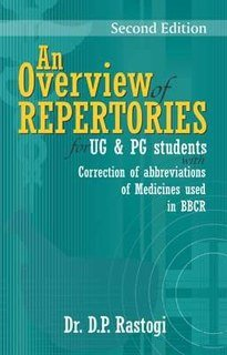 An Overview of Repertories for UG & PG Students/D.P. Rastogi