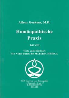 Band 8 - Homöopathische Praxis/Alfons Geukens