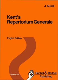 Kent's Repertorium Generale English Edition standard/Jost Künzli