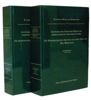 Ausführlicher Symptomen-Kodex - 2 Bände - DIN A4         Band 7.1+7.2/Georg Heinrich Gottlieb Jahr