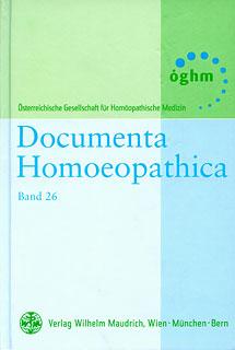 Band 26 - Documenta Homoeopathica/ÖGHM