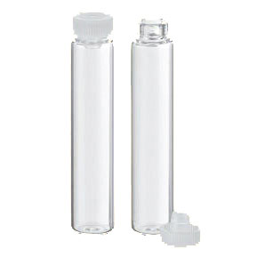 Rolled-edge glass vials 2g clear - 568 pieces