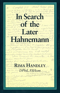 In Search of the Later Hahnemann/Rima Handley