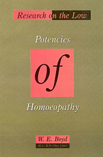 Research on the Low Potencies of Homoeopathy/Hamish W. Boyd