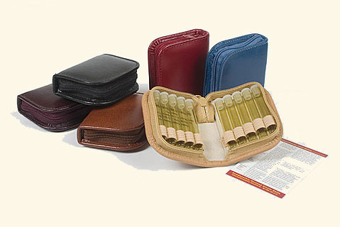 """10 - Leather remedy cases """"mini"""""""