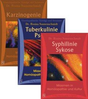 Miasmenkurse Paket: Syphilinie, Sykose, Tuberkulinie, Psora, Karzinogenie/Rosina Sonnenschmidt