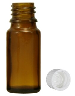 Brown glass bottles, 30 ml with fastening and dropper U1