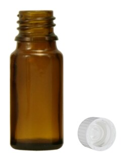 Brown glass bottles, 20ml with fastening and dropper U1