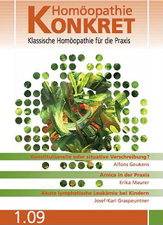 Homöopathie Konkret 2009/1/Kirstin Hill