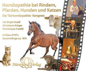 Homöopathie bei Rindern, Pferden, Hunden und Katzen - Der Tierhomöopathie-Kongress auf 6 DVD's/Birgit Gnadl / Christiane P. Krüger / Dominique Fraefel