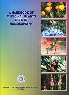 A Handbook of Medicinal Plants Used in Homeopathy/CCRH