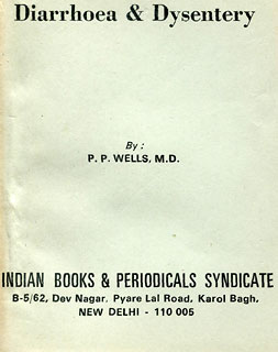 Diarrhoea & Dysentery/P.P. Wells