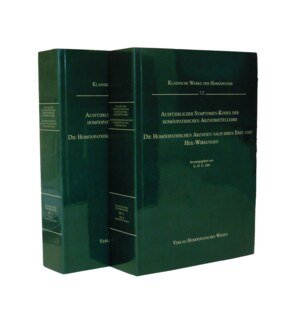 Ausführlicher Symptomen-Kodex - 2 Bände - DIN A5     7.1 und 7.2/Georg Heinrich Gottlieb Jahr