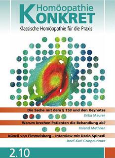 Homöopathie Konkret 2010/2/Kirstin Hill