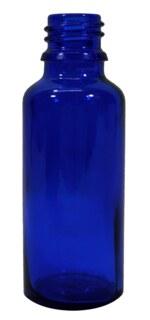 BLAUglasfläschchen 30 ml mit Verschluss und Tropfer U2 - langsam tropfend/