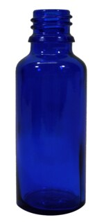 Blue glass vials 30ml with fastening and dropper U2