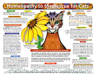 Homeopathy to the Rescue for Cats chart/poster/Lorelei Whitney
