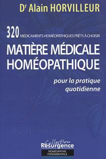 Matière medicale homeopathique/Alain Horvilleur