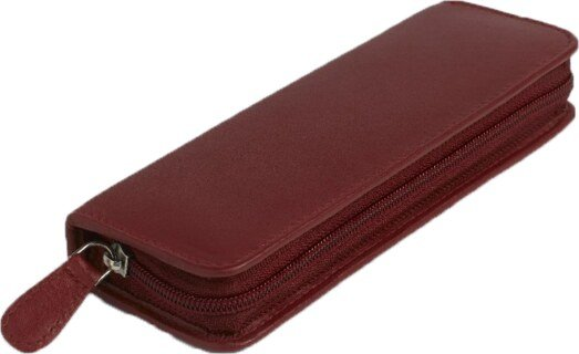 30 - Remedy case in high-quality cowhide - red/