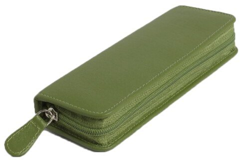 30 - Remedy case in high-quality cowhide - green/