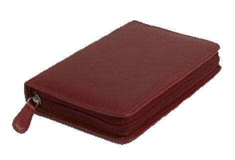 60er Taschenapotheke leer - OMEO - Rindnappa-Leder rot/