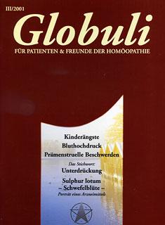 Globuli 2001/3 - Kinderängste, Bluthochdruck/Zeitschrift