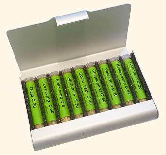 """Kit débutant """"Kaviraj"""" de 9 remèdes dans une pochette en aluminium/Homeoplant"""