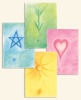 """Poster-Set """"Das Himmelskreuz""""  Üben nach dem Prinzip der 4 Himmelsrichtungen, Harald Knauss"""