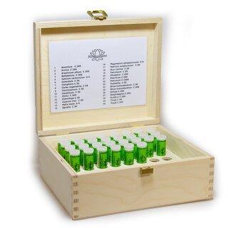 Kit de base de 30 fioles en coffret en bois - Maute/Homeoplant