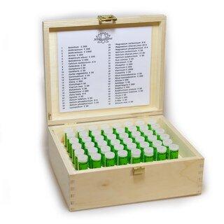 Kit complet de 48 fioles en coffret en bois - Maute/Homeoplant