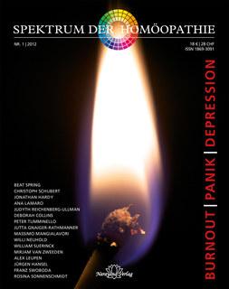 Spektrum der Homöopathie 2012-1, Burnout Panik Depression/Narayana Verlag