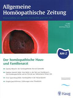 AHZ 2012/5 - Der homöopatische Haus- und Familienarzt/AHZ