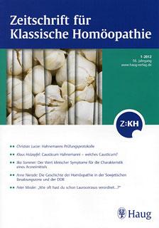 Zeitschrift für Klassische Homöopathie 2012/1/ZKH