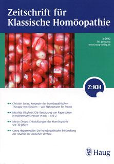Zeitschrift für Klassische Homöopathie 2012/3/ZKH