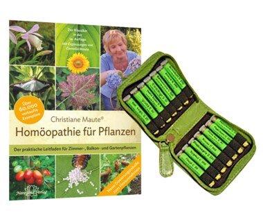 Homöopathie für Pflanzen (Buch) und Einsteigerset für Garten, Zimmer- und Balkonpflanzen (Mittel)/Christiane Maute®