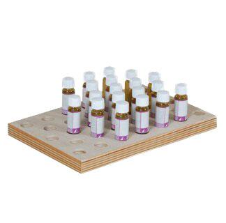 Sortierplatte für 5 g Gläschen   für 33 Gläschen/
