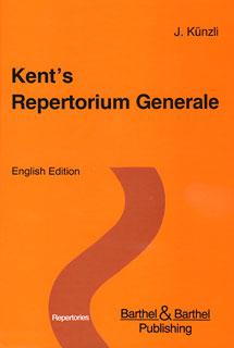 Kent's Repertorium Generale English Edition standard - Dünndrucklightface/Jost Künzli