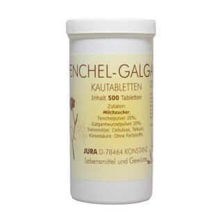 Fenchel-Galgant Kautabletten - 500 Tabletten/
