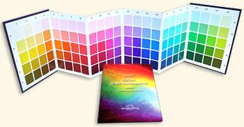 """Colores en Homeopatía - Juego : """"Tabla Ampliada de Colores"""" y el """"Libro de Texto"""", Ulrich Welte"""
