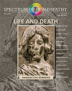 Spectrum of Homeopathy 2013-2, Life and Death/Narayana Verlag