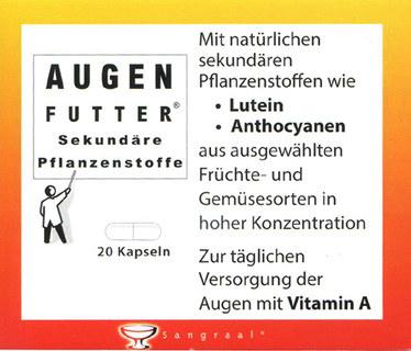 Augenfutter® - 20 gélules - ANTIOXYDANT POUR LA VUE -/