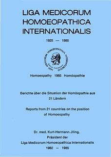 Liga Medicorum Homoeopathica Internationalis - Imperfect copy/Kurt-Hermann Jlling